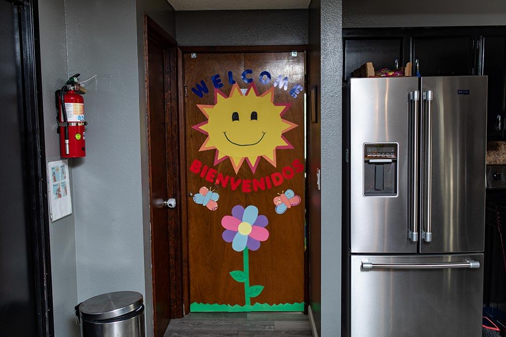 Analuisa Ayala Woodburn kitchen door with