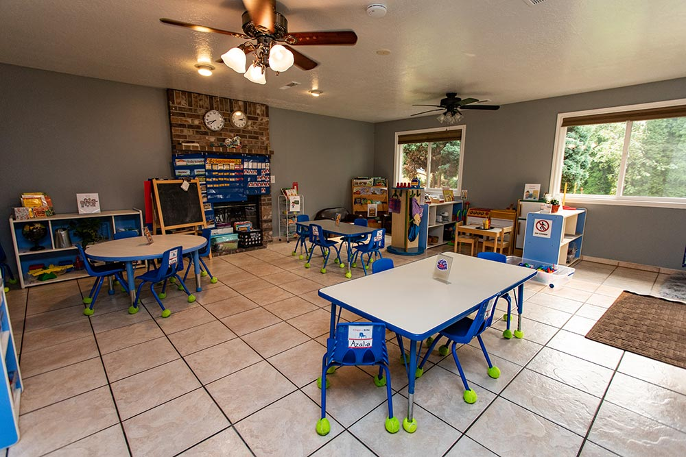 Arce's Daycare classroom with tables