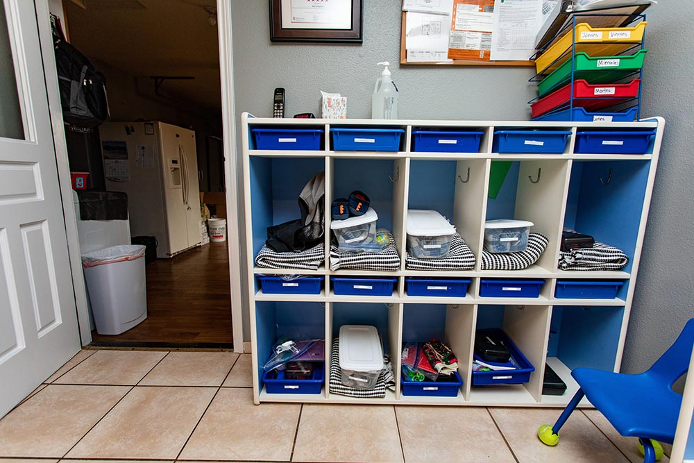 Arce's Daycare personal cubbies and lockers
