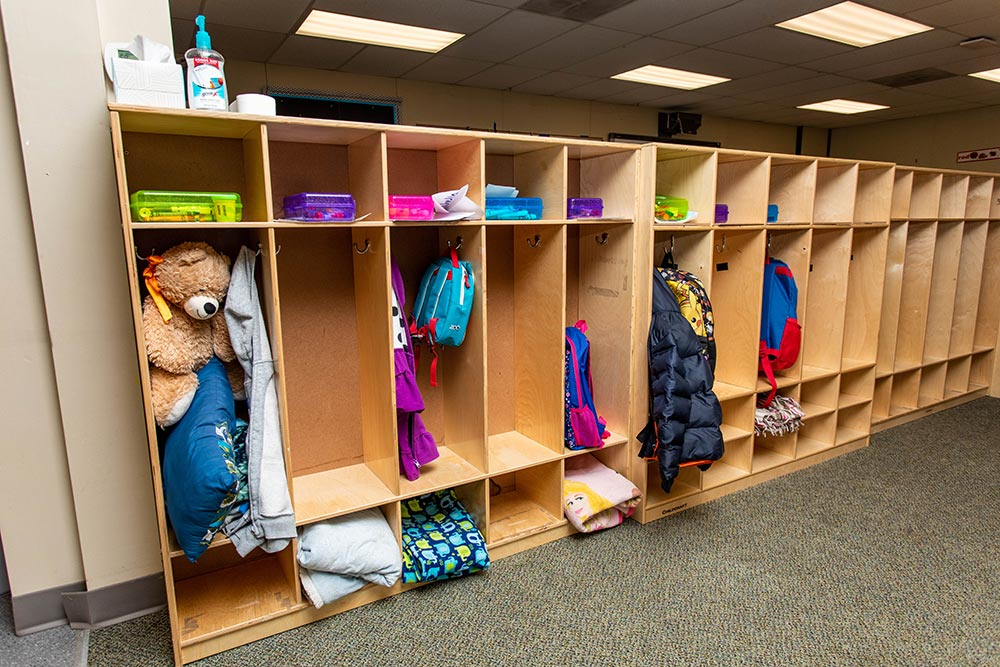 Gervais School lockers and cubbies