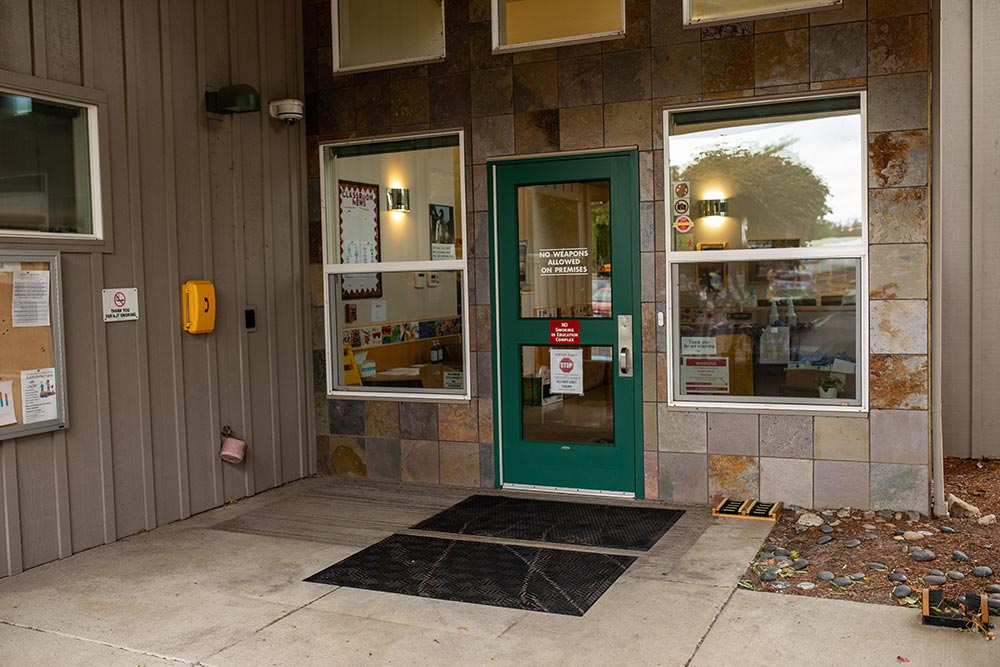 The Confederated Tribes of Grand Ronde front door