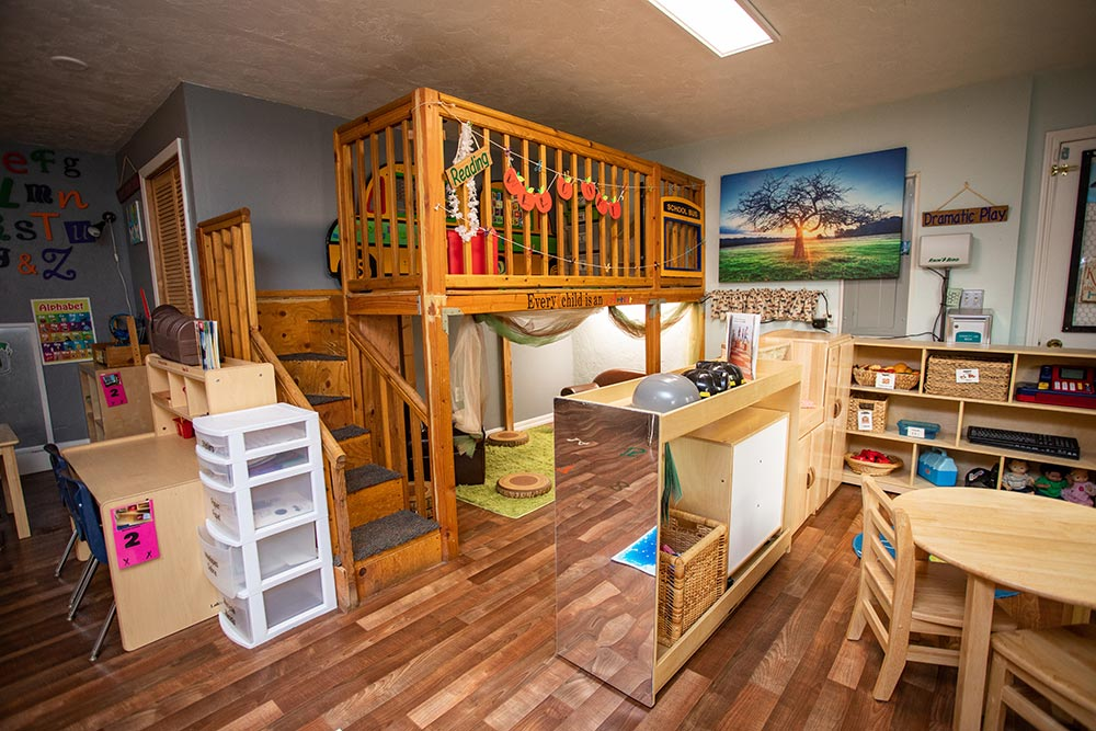 Island Adventures Childcare and Preschool bunkbeds and play area