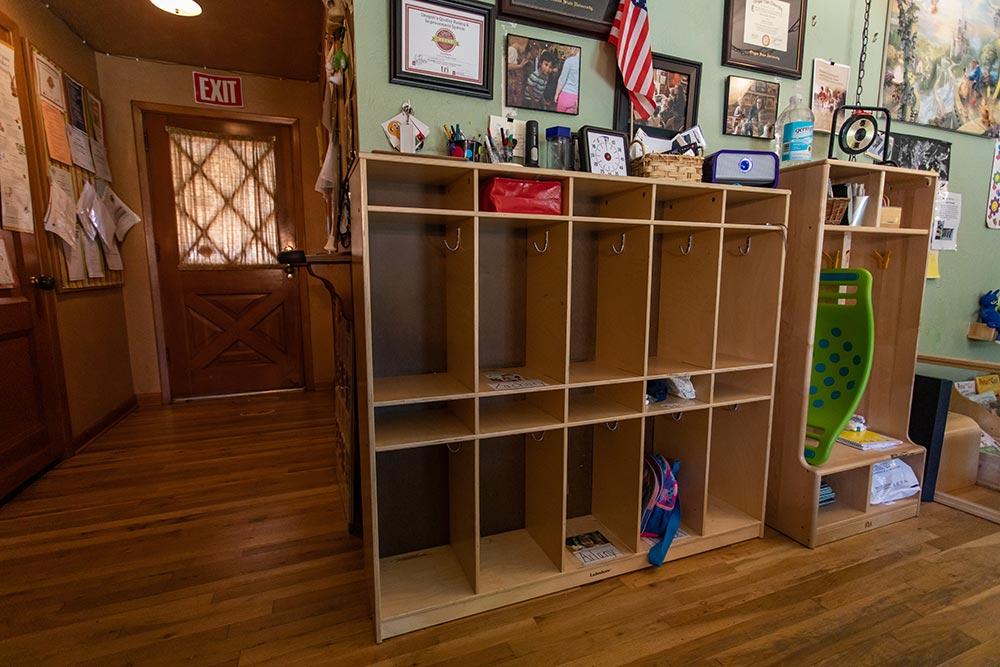 Loving Beginnings Childcare & Preschool cubby lockers