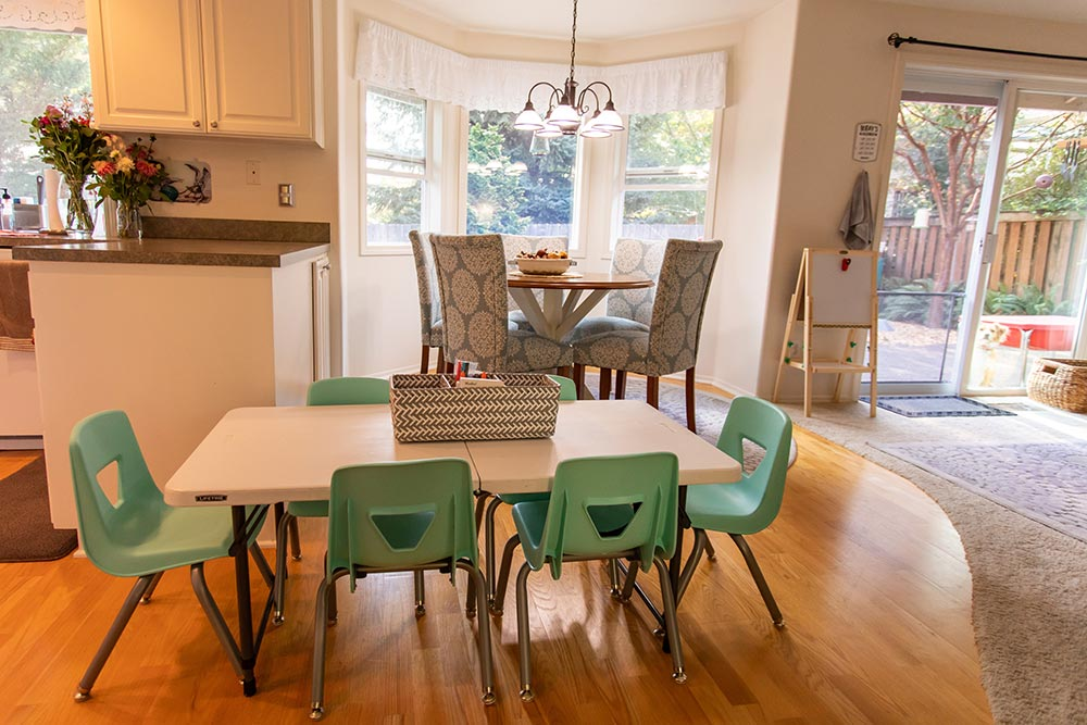 Little Smiles Preschool kitchen with small table
