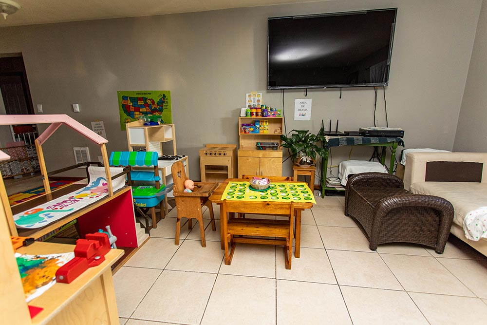 Maria's Daycare & Preschool playroom with television