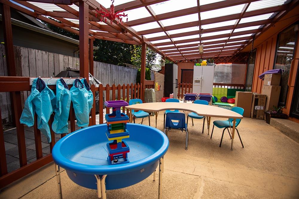 Oregon Child Development Coalition Concordia Salem outdoor water learning area