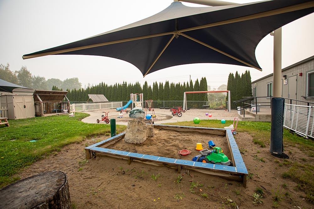 Oregon Child Development Coalition Concordia Salem covered sandbox