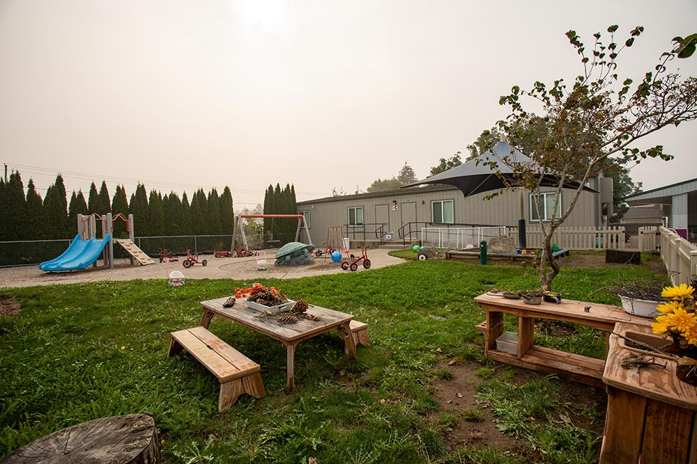Oregon Child Development Coalition Concordia Salem playground and picnic table