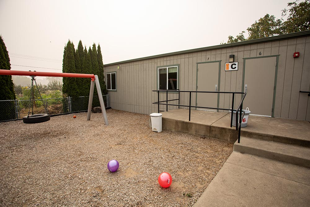 Oregon Child Development Coalition Concordia Salem building with tire swing