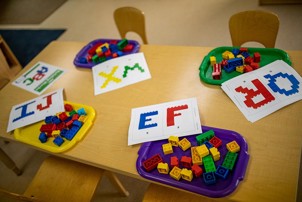 Oregon Child Development Coalition Concordia Salem plastic bricks and letters