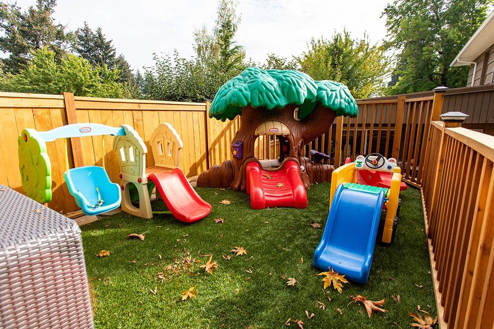 Precious Cargo Preschool outdoor slides