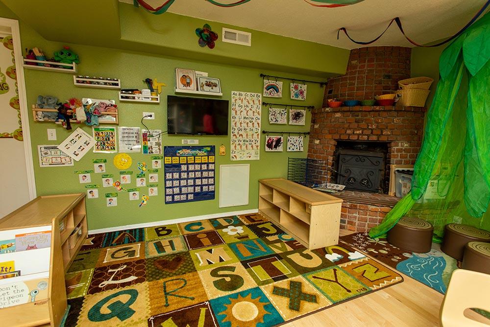 Precious Cargo Preschool alphabet carpet and play area