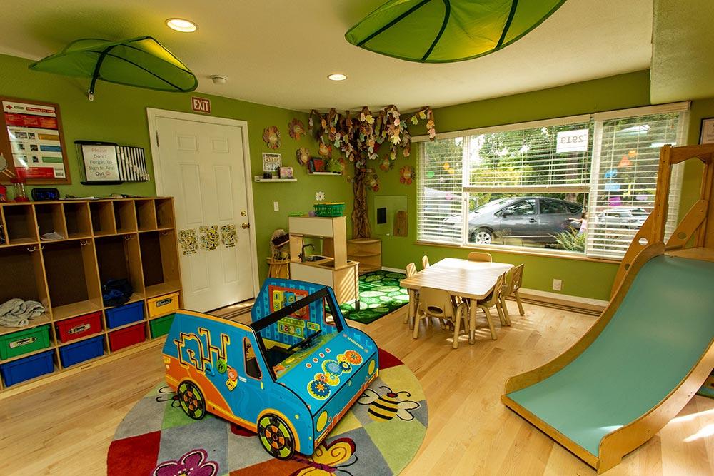 Precious Cargo Preschool indoor slide and play room