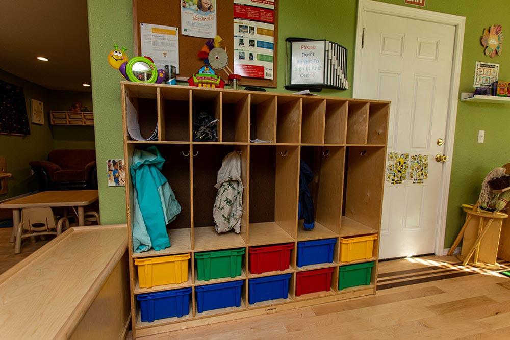 Precious Cargo Preschool bins and lockers