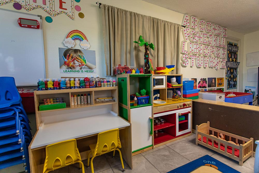 Preescolar Day Care Jalisco classroom play area