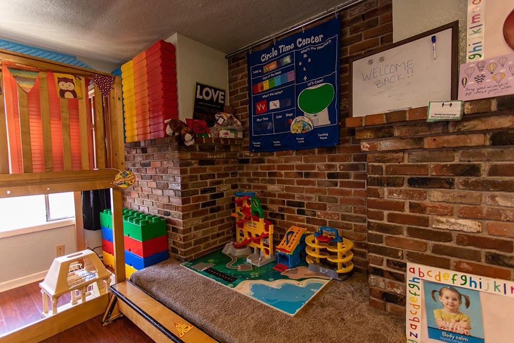 Precious Little Lambs Classroom indoor play area