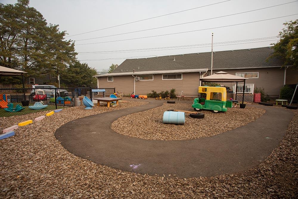 Priceless Treasures Preschool outdoor track