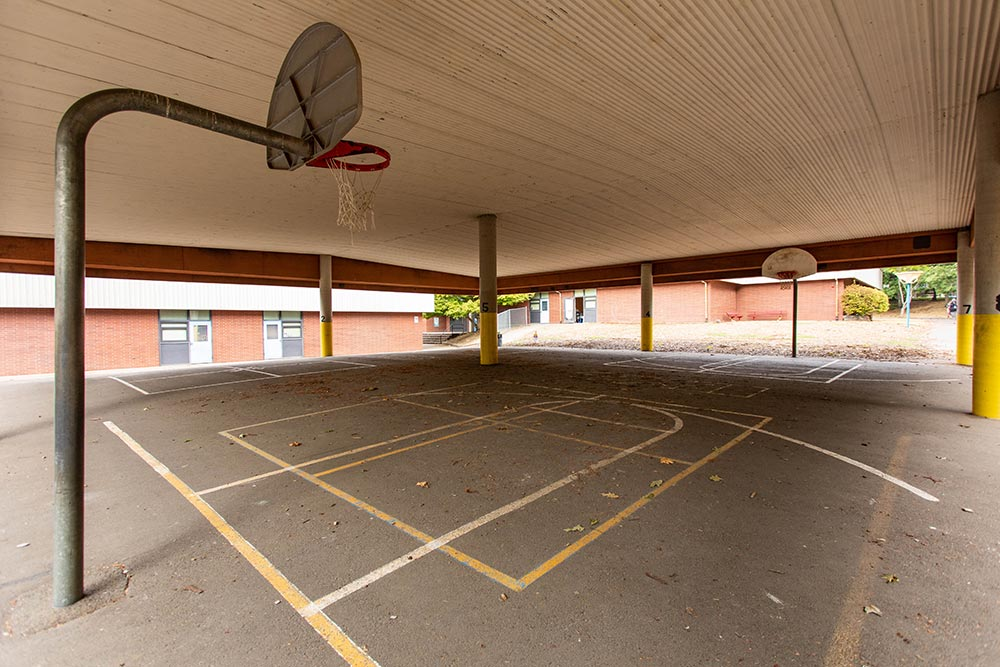 Salem-Keizer School Chapman Hill basketball hoops
