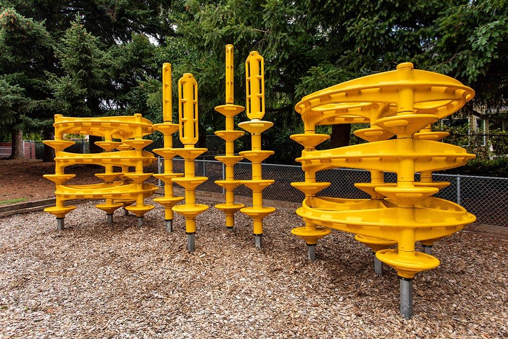 Salem-Keizer School Chapman Hill playground climbing towers