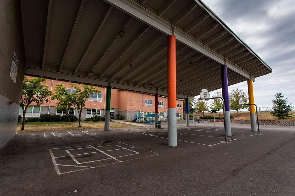 Salem-Keizer School Hallman basketball and foursquare areas