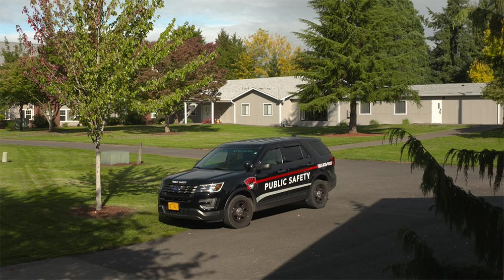Western Oregon University Child Development Center Public Safety vehicle