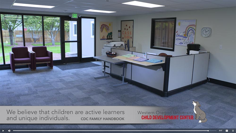 Western Oregon University Child Development Center front desk