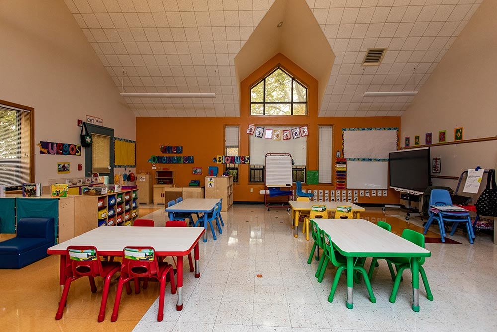 Woodburn School classroom tables