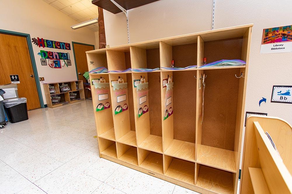 Woodburn School open lockers