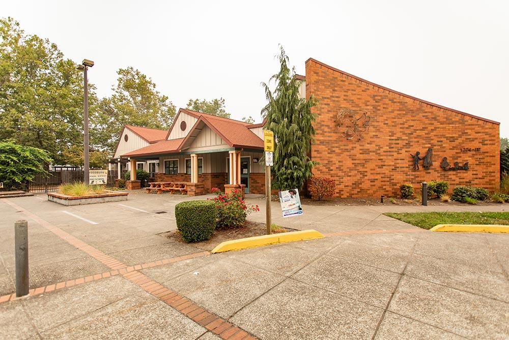 Woodburn School brick building