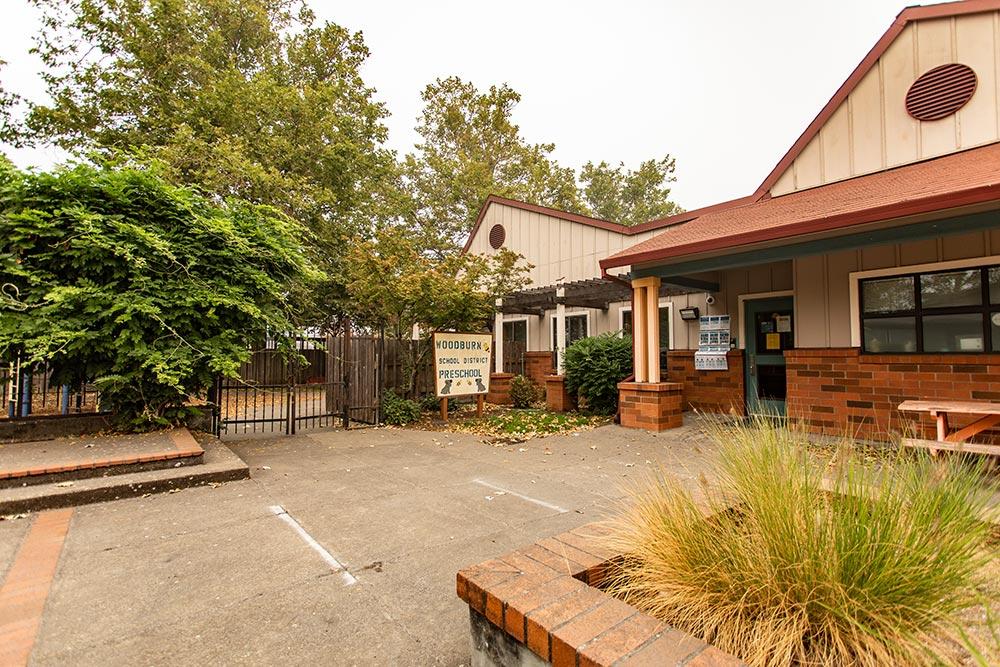 Woodburn School front door