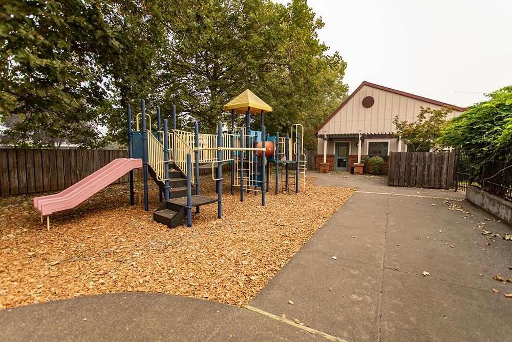 Woodburn School outdoor playground