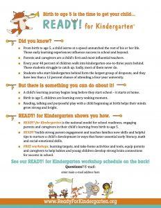 READY! For Kindergarten Flyer - English